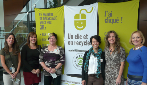 Collecte de déchets électroniques au CSSS Pierre-Boucher